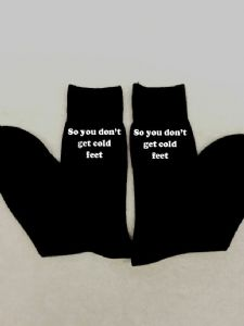 MENS PERSONALISED EMBROIDERED SOCKS - Add your own message